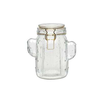 Saguaro 40 oz. Glass Hermetic Preserving Canister with Figural Shape