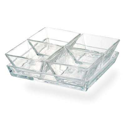Cortland 4-Section Glass Tray
