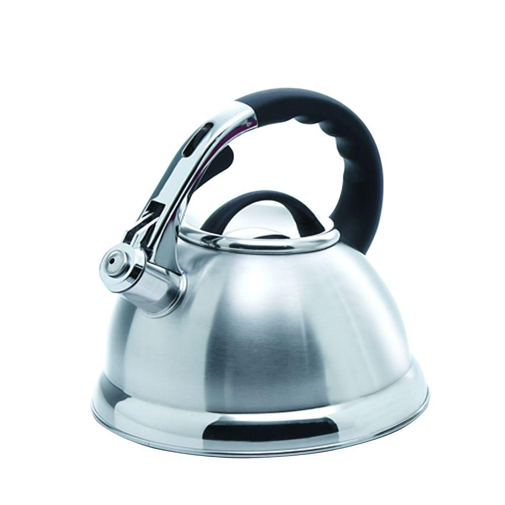 Creative Home Camille 12-Cup Stovetop Tea Kettle in Silver-72223 ...