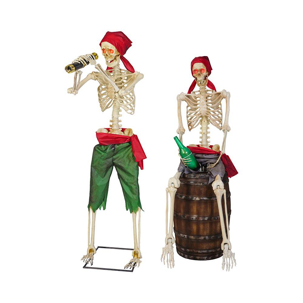Home Accents Holiday 60 in. Set of 2 Skeleton Pirates