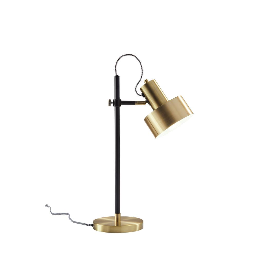 Fabulous Adesso Clayton 22 5 In Black Brass Desk Lamp Download Free Architecture Designs Viewormadebymaigaardcom