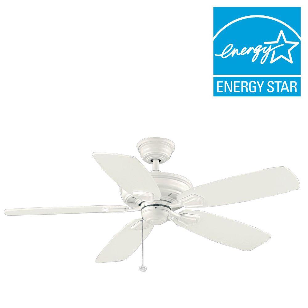 Hampton Bay Heirloom 52 in. Indoor/Outdoor White Ceiling Fan