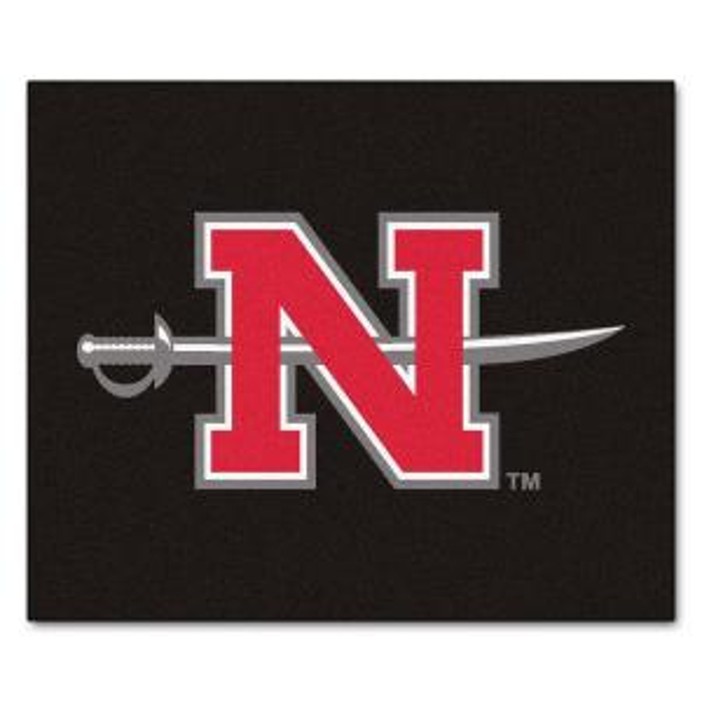 NCAA Nicholls State University Black 5 ft. x 6 ft. Area Rug