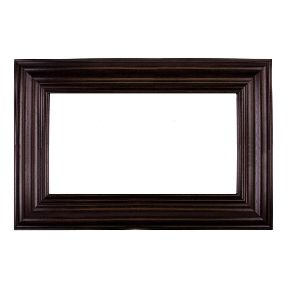 Sonoma 60 in. x 42 in. DIY Mirror Frame Kit in Espresso - Mirror Not Included