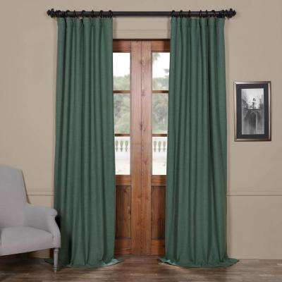 Semi-Opaque Jadite Green Bellino Blackout Curtain - 50 in. W x 84 in. L (Panel)