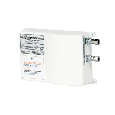 Chronomite Instant Flow Sr Low Flow 0 35 Gpm Point Of Use Electric Tankless Water Heater 30 Amp 120 Volt 3600 Watt Sr 30l 120 I The Home Depot