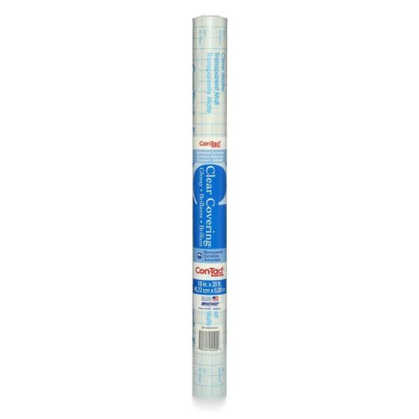 Clear Cover 18 in  x 20 ft  Clear Glossy Transparent Self-Adhesive Vinyl  Drawer and Shelf Liner (6-Rolls)