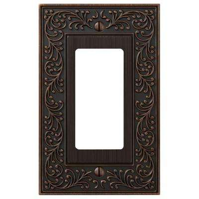 English Garden 1 Decora Wall Plate - Aged Bronze