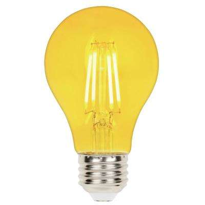 40-Watt Equivalent A19 Dimmable Yellow Filament LED Light Bulb