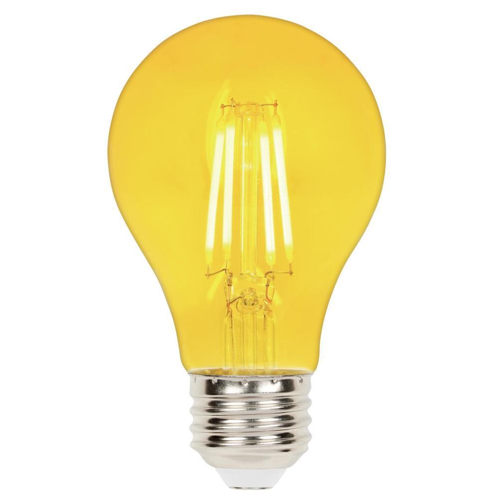 40-Watt Equivalent A19 Dimmable Yellow Filament LED Light Bulb
