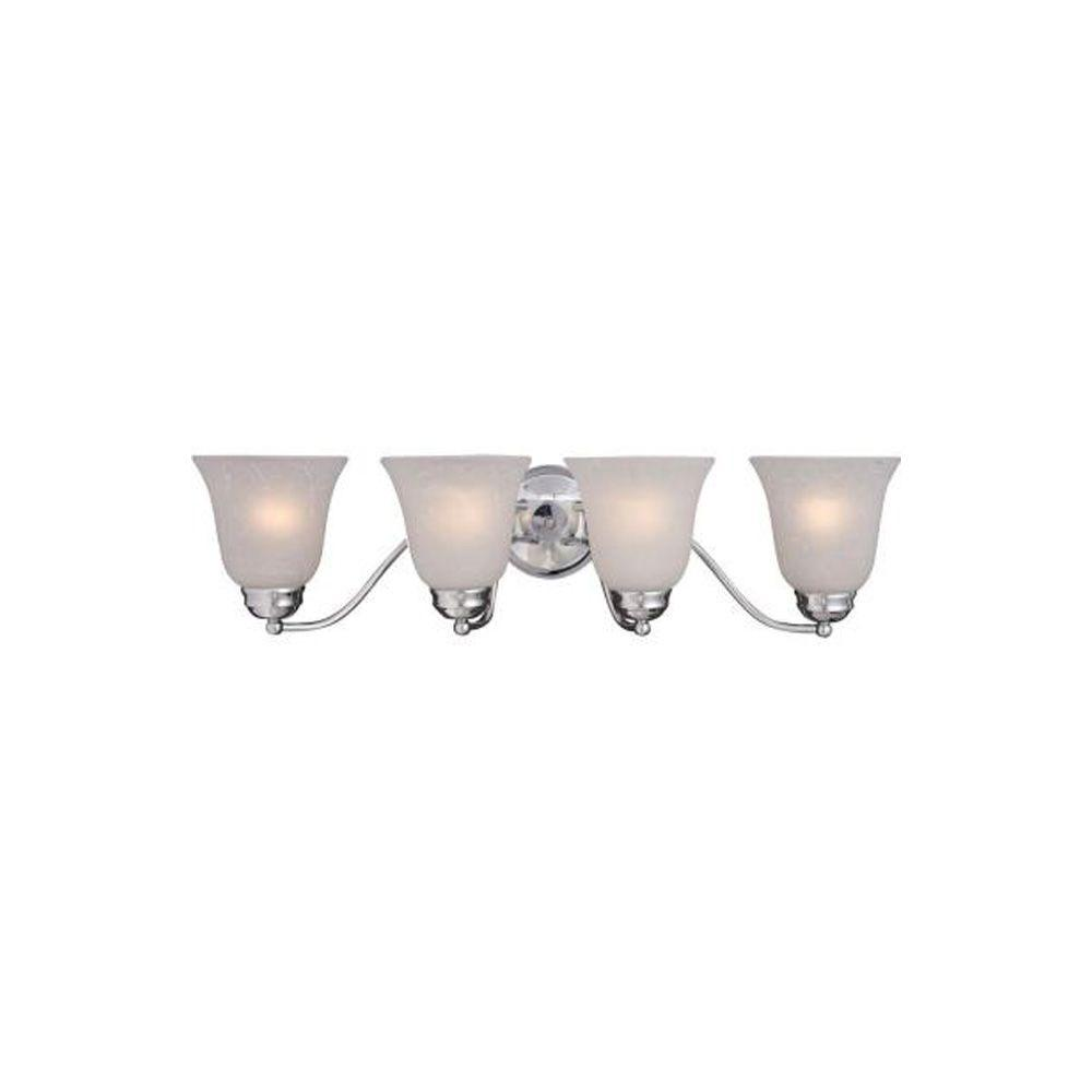Basix 4-Light Polished Chrome Bath Vanity Light