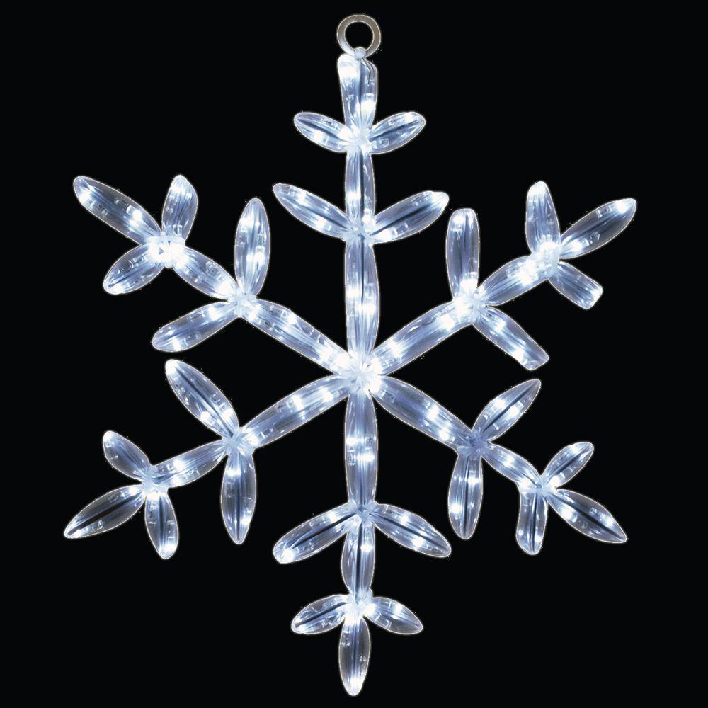 24 in. 20 LED White Tube Snowflake Light
