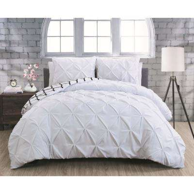 Madrid White Queen 3-Piece Duvet Set