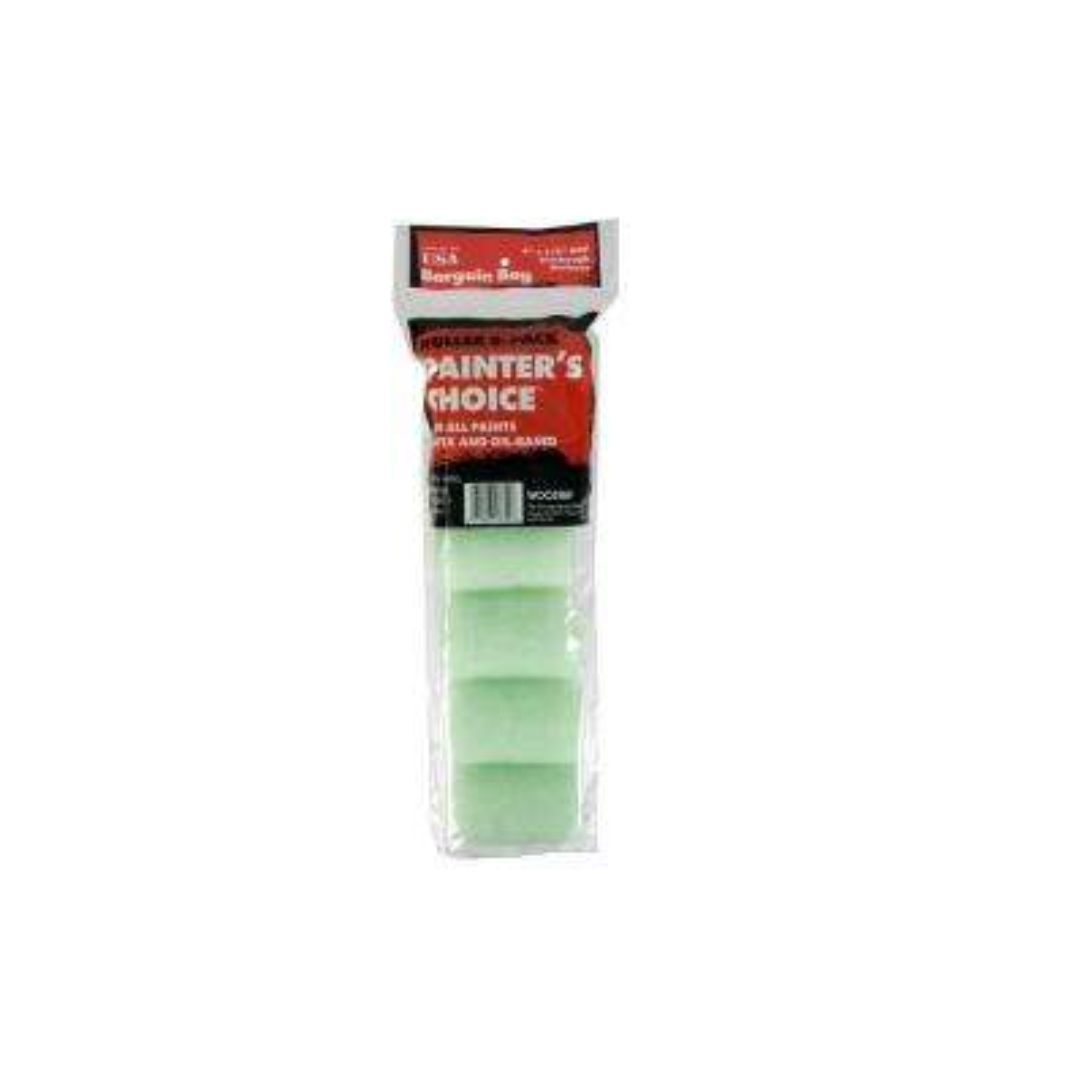 4 in. x 1/2 in. Fabric Painter's Choice Medium Density Trim Roller (6-Pack)