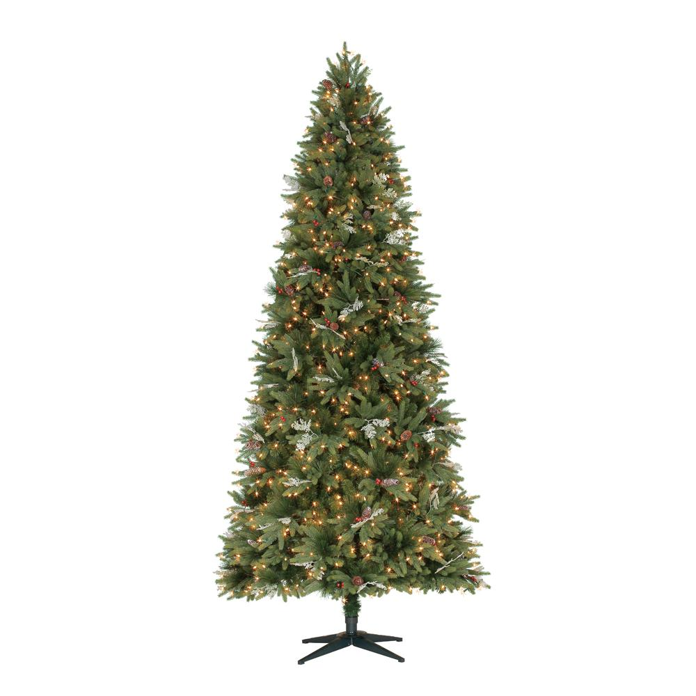 04704c7b1f1 Home Accents Holiday 9 ft. Pre-Lit Andes Fir Slim Artificial ...