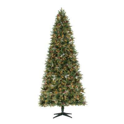 Pre-Lit Andes Fir Slim Artificial Christmas Tree with 900 Clear Lights