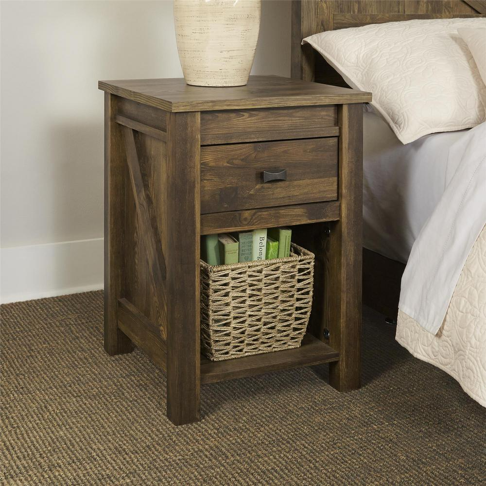 Altra Furniture Farmington 1 Drawer Century Barn Pine
