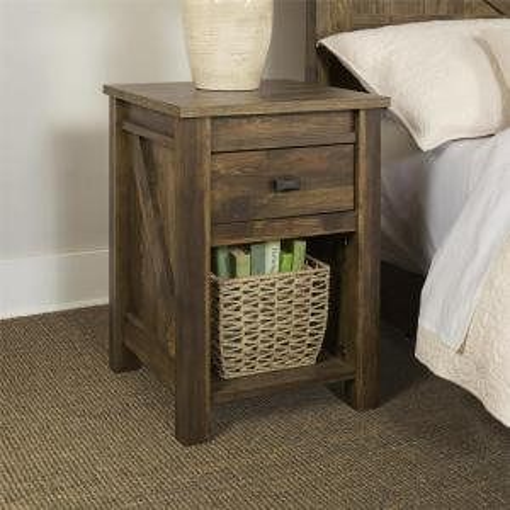 Altra Furniture Farmington 1-Drawer Century Barn Pine Nightstand by Altra Furniture