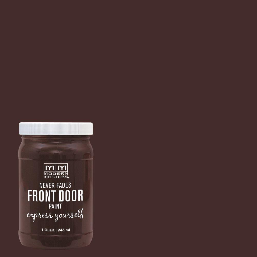 Modern Masters Express Yourself 1 qt. Satin Grounded Brown Water-Based Front Door Paint