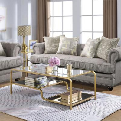 Astrid Gold and Mirror Coffee Table