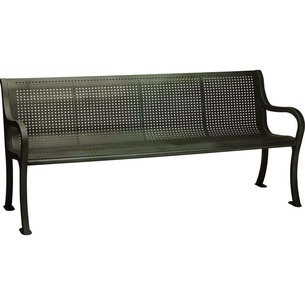 Tradewinds Oasis 6 Ft Perforated Bench With Back In