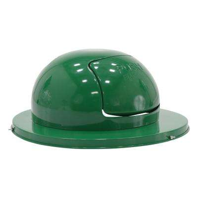 Steel Waste Disposal Top For Drum-Dual Door-Green