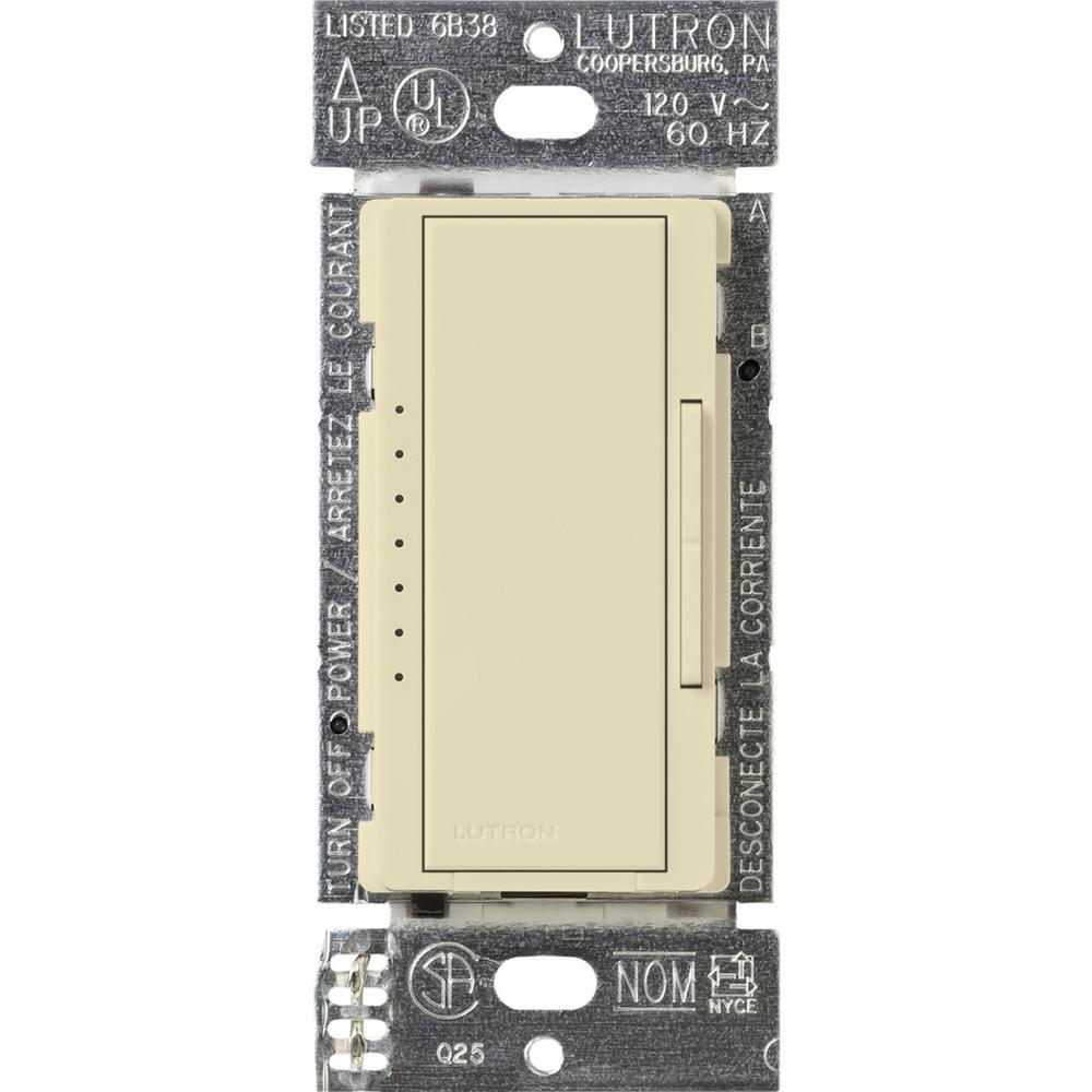 Maestro 600-Watt Multi-Location Electronic Low-Voltage Digital Dimmer - Almond