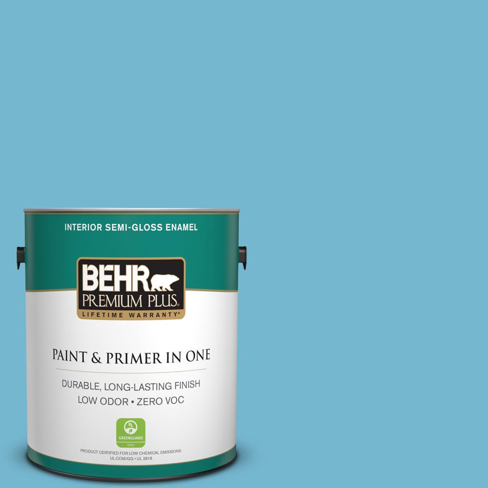 1 gal. #M480-4 Below Zero Semi-Gloss Enamel Zero VOC Interior Paint