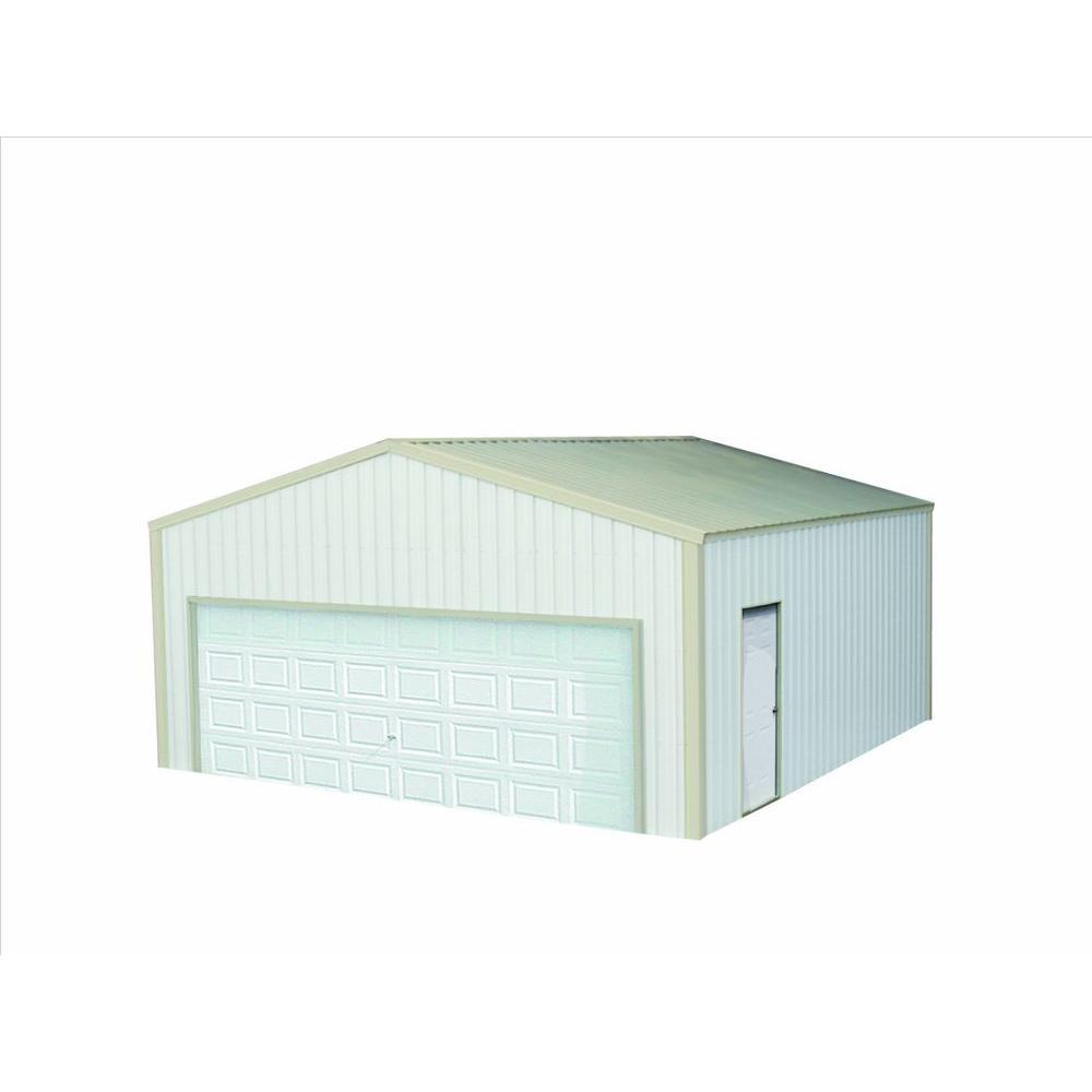Versatube 20 ft x 20 ft x 8 ft garage vs2202008516ws the home depot versatube 20 ft x 20 ft x 8 ft garage solutioingenieria Gallery