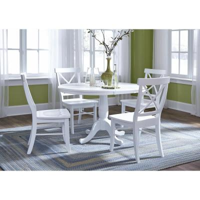 White - Solid Wood - Dining Chairs - Kitchen & Dining Room ...