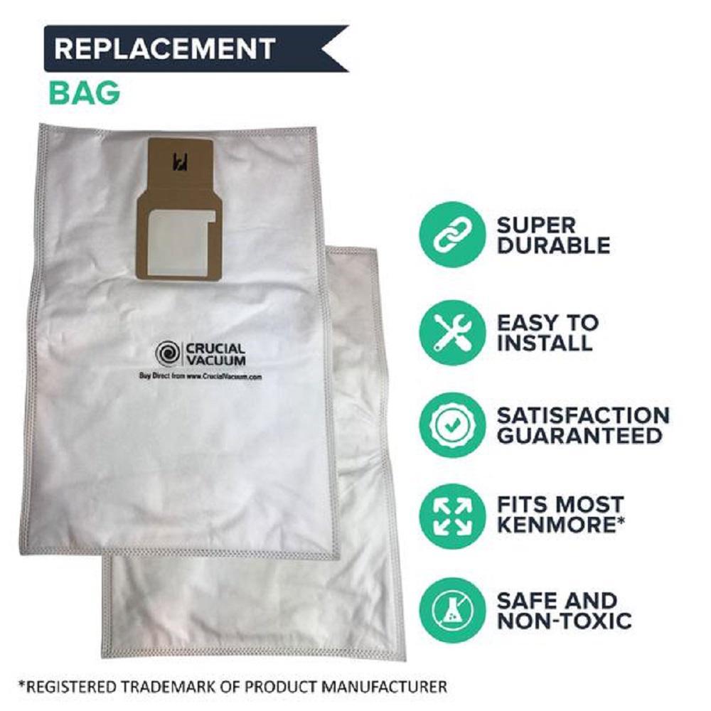 9 REPL Kenmore HEPA Style Vacuum Cloth Bags Part # 50688 20-5068 20-50681