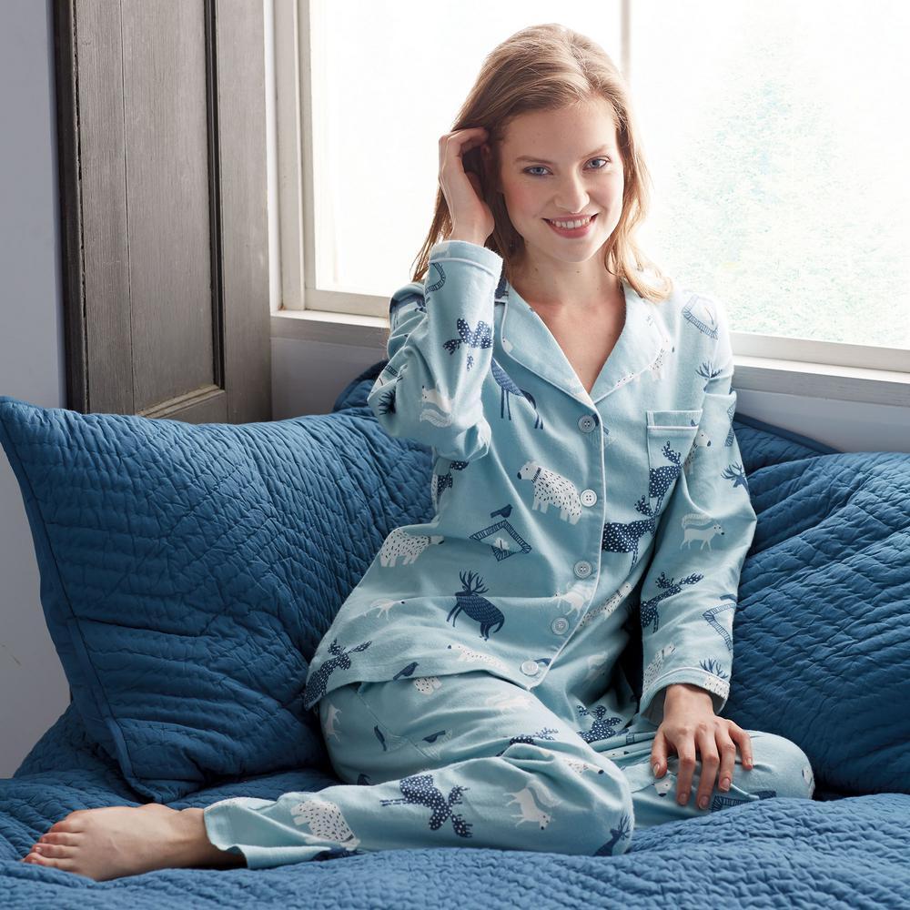 0f59e8f7b9 The Company Store-Cotton Flannel Women's Extra Small Woodland Pajama Set