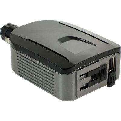 Power Inverter with USB and 90/180-Watt AC Outlet