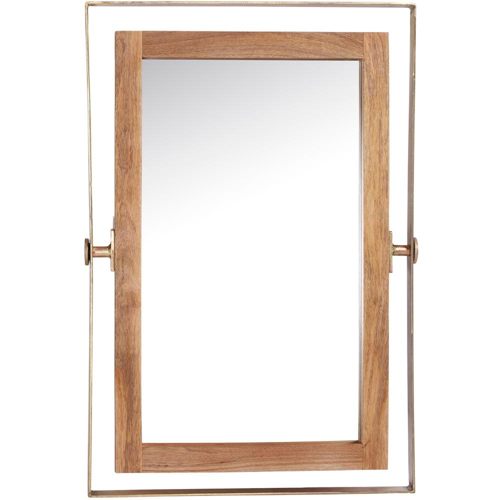 Crescent 24 in. x 36 in. Framed Wall Mirror