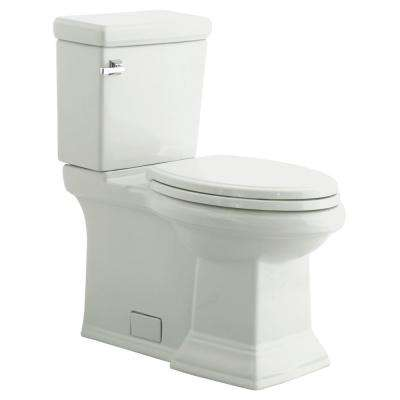 Town Square Right Height 2-Piece 1.28/1.6 GPF Single Flush Elongated Toilet in White