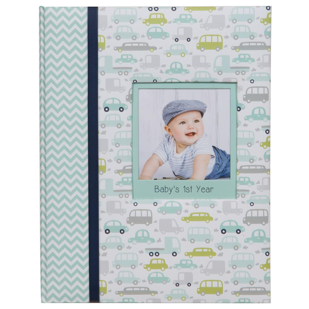Pinnacle Baby Milestone Journal 4 in. x 6 in. Blue Photo Album ...