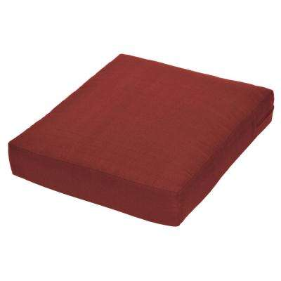 Beverly Chili Replacement Outdoor Ottoman Cushion