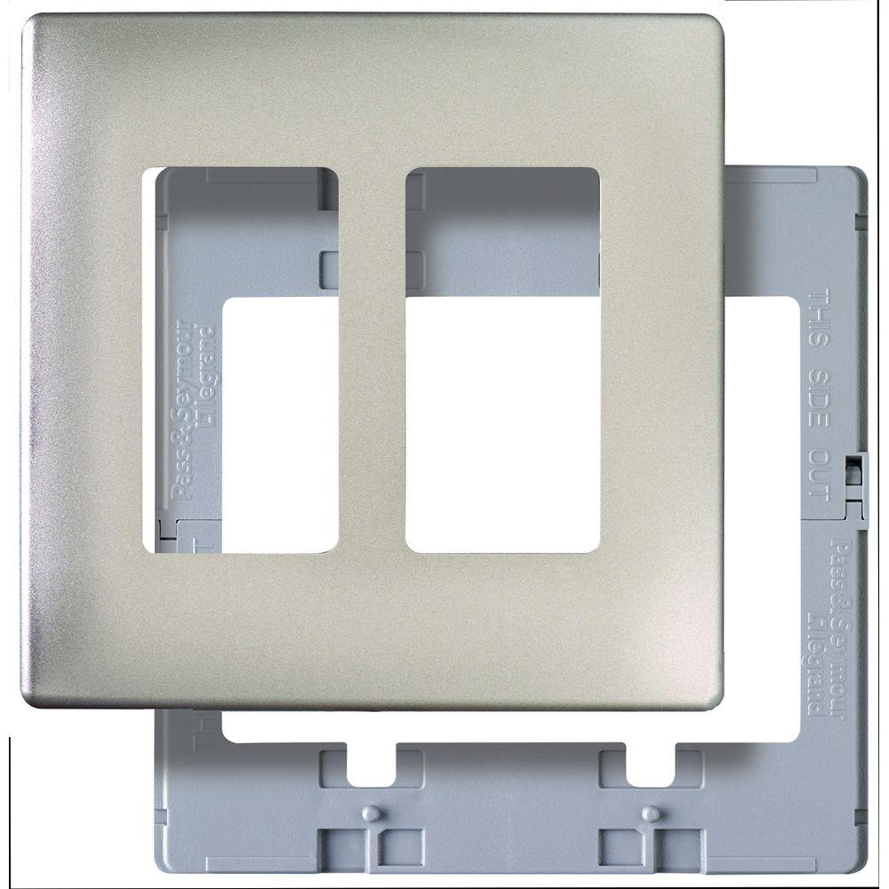 Merveilleux Legrand Pass And Seymour Screwless 2 Gang 2 Decorator Wall Plate   Nickel  Color SWP262NIBPCC10   The Home Depot
