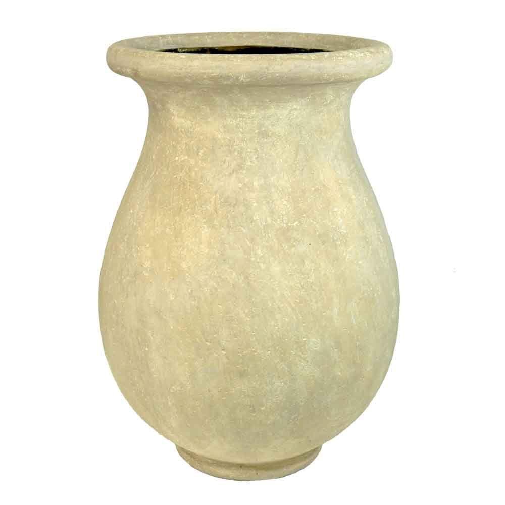 21-1/2 in. Round Limestone Cast Stone Byzantine Jar