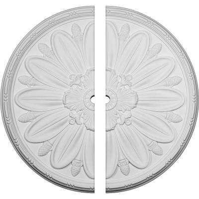 40 in. O.D. x 2 in. I.D. x 1-7/8 in. P Delfina Ceiling Medallion (2-Piece)