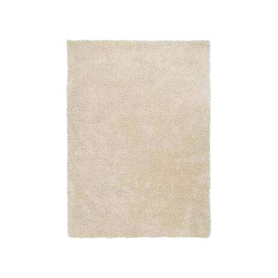 Luxe Ecru Ivory 8 ft. x 11 ft. Area Rug