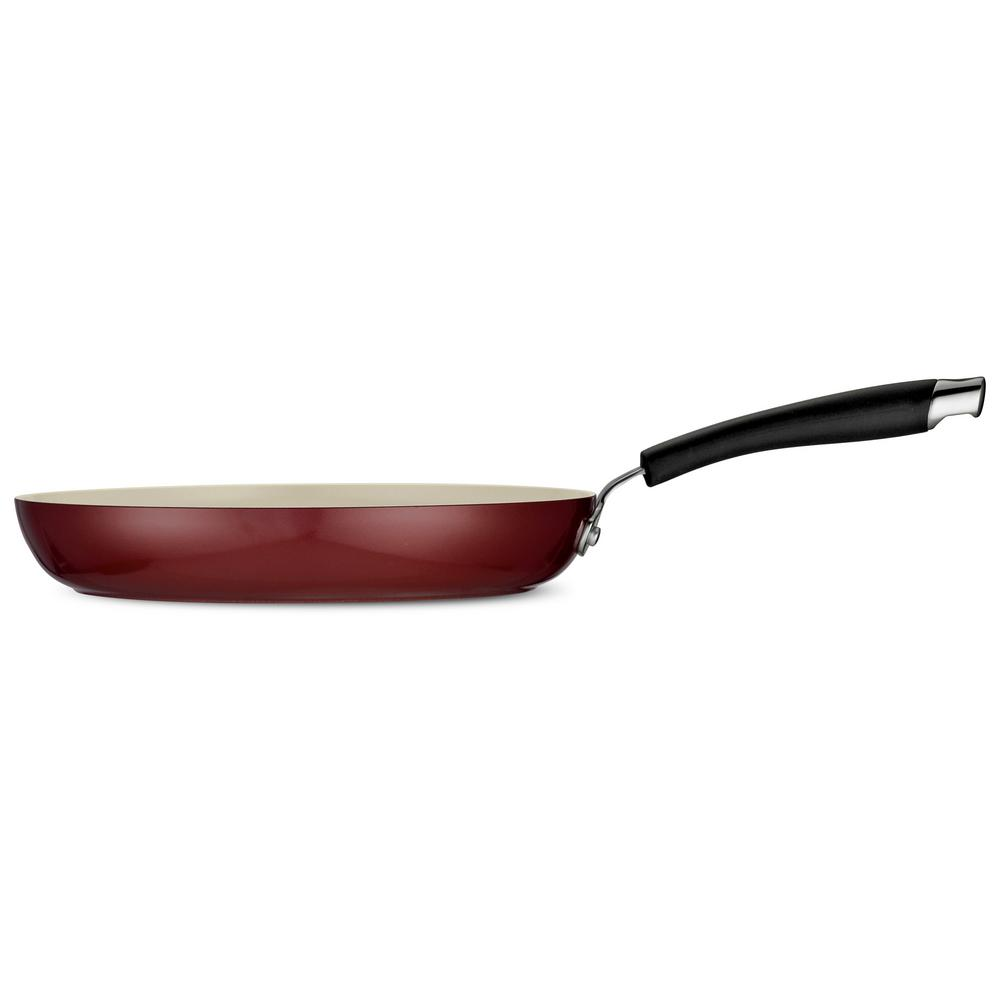 Style Ceramica 10 in. Fry Pan in Red Rhubarb