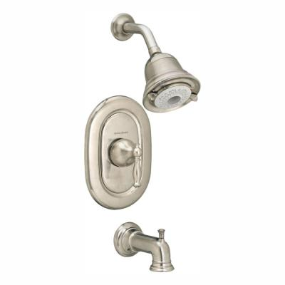 Quentin FloWise Pressure Balance 1-Handle Tub and Shower Faucet Trim Kit in Brushed Nickel (Valve Sold Separately)