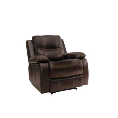 Warton Recliner in Dark Brown