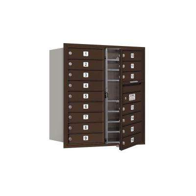 3700 Series 34 in. 9 Door High Unit Bronze USPS Front Loading 4C Horizontal Mailbox with 16 MB1 Doors