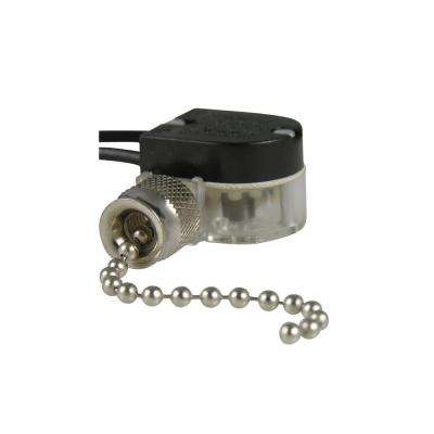 3 Amp Single-Pole Single Circuit Pull-Chain Switch - Nickel (1-Pack)