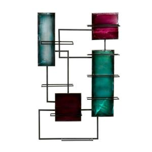 Southern Enterprises Metal Wall Sculpture Wine Storage in Multi-Color by Southern Enterprises