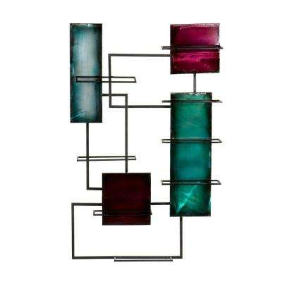 Metal Wall Sculpture Wine Storage in Multi-Color