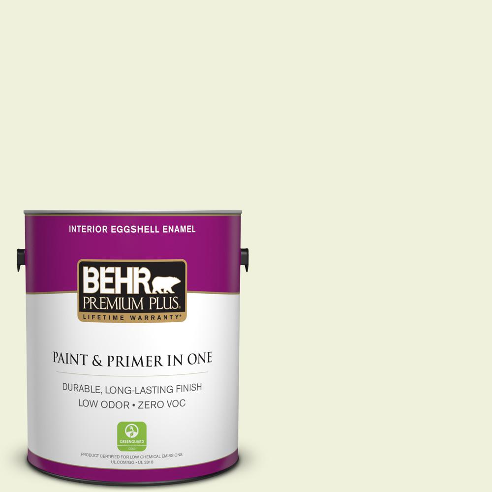 BEHR Premium Plus 1-gal. #410C-1 June Vision Zero VOC Eggshell Enamel Interior Paint
