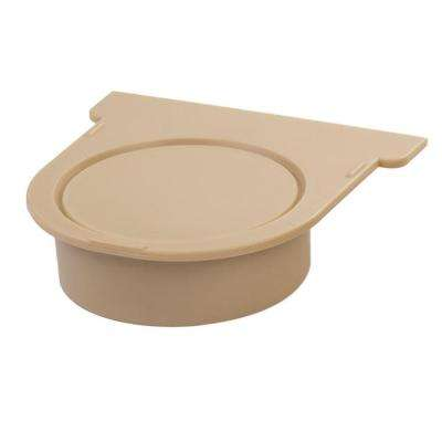 Easy Drain Series Sandstone End Cap and 3 in. Pipe Adaptor for Modular Trench and Channel Drain Systems